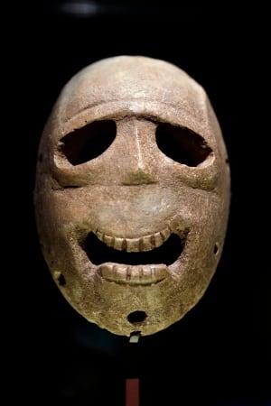 Mideast Israel Ancient Masks