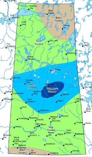 Sask. spring runoff map 2014