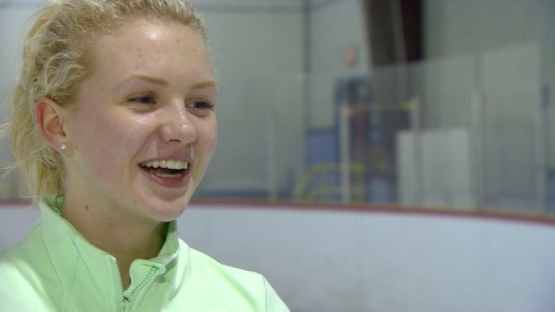 Katie Devereaux, 16, is one of two Iqaluit figure skaters heading to the Arctic Winter Games in Alaska. 'I'd strive for gold but that's everyone's goal right now so I just hope for the best.'