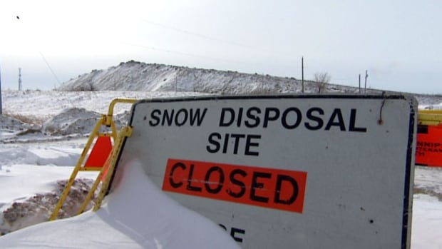 The Kenaston snow disposal site was closed for the 2013-14 season in January because it has reached capacity.
