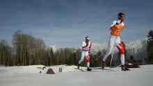 Canada's best nordic skiers enjoy the last snow in Banff's Rockies