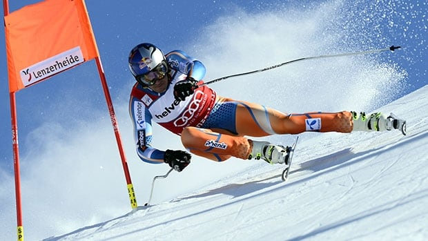 Norway's Aksel Lund Svindal competes in the men's downhill Wednesday at the alpine skiing World Cup finals in Lenzerheide, Switzerland.