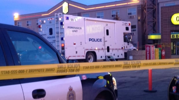 Police investigate a fatal stabbing in west Edmonton Wednesday morning.