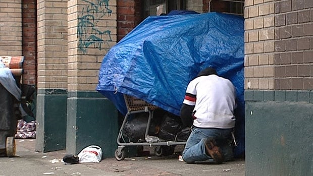 The number of homeless people has remained fairly static since 2008, increasing by around four per cent between then and 2014.