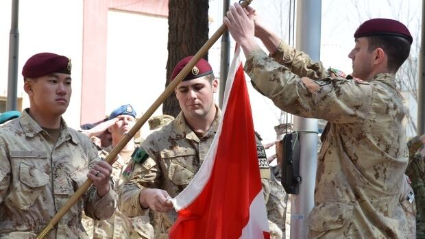 The army takes down the Canadian flag for the last time in Afghanistan on Wednesday, bringing an end to 12 years of military involvement.