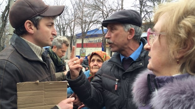 Residents of Crimea argue about the region's future. The region is expected to vote to join Russia in this weekend's referendum. Many of its citizens, though, want Crimea to remain a part of Ukraine.