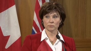 Christy Clark says John Les appointment a mistake
