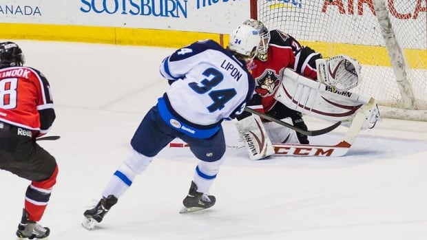 JC Lipon scored two goals against the Portland Pirates on Wednesday night at Mile One Centre.