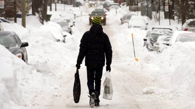 A massive amount of snow has fallen on Montreal this winter.