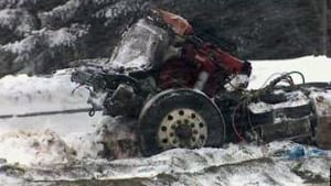 Accident on Trans-Canada Highway near Florenceville