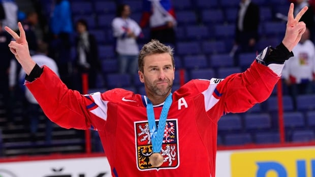 Petr Nedved of Czech Republic, shown in this file photo, officially retired from hockey on Friday. The centre had retired from the NHL in 2007.