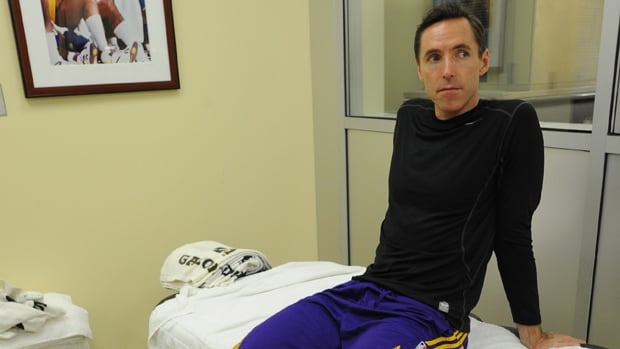 Canadian basketball star Steve Nash, shown in this file photo, will not return to the hardwood for the Lakers this season.