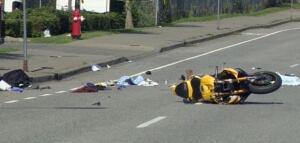 Princess Margaret accident scene