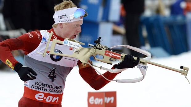 Norway's Johannes Thingnes Boe competes to win the men's 10 km sprint competition of the IBU World Cup Biathlon event in Kontiolahti, Finland on Saturday.