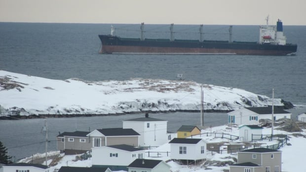 The John 1 cargo vessel ran aground just outside Rose Blanche on Saturday afternoon.