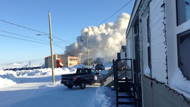 The only school in Aupaluk, Nunavik was destroyed by fire on Saturday.