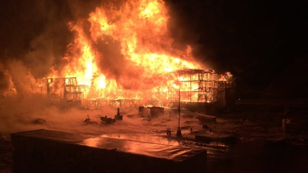 A fire that destroyed a south Edmonton condo complex was deliberately set, say fire investigators.
