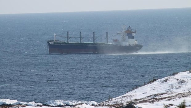 A Cormorant helicopter was dispatched to evacuate the 23 people aboard the John 1 after it ran aground near Rose Blanche.