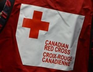 Canadian Red Cross volunteer vest sign