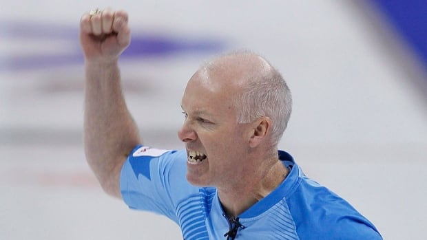 Glenn Howard, shown here competing last December, earned a hard-fought win over Brad Gushue at the National Grand Slam of Curling event Sunday.