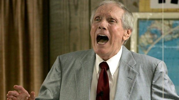 Rev. Fred Phelps Sr., shown at his Westboro Baptist Church in Topeka, Kansas in 2006, created a church whose activities inspired a U.S. federal law on funeral picketing.