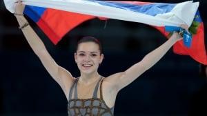 Adelina Sotnikova of Russia celebrates winning the women's free skate figure skating event in Sochi last month.