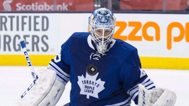 Toronto Maple Leafs goaltender Jonathan Bernier, seen in a March 8 game, has made 50 appearances so far this season.