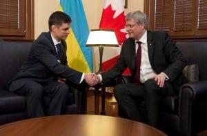 Cda Ukraine 20140317 Harper Prystaiko