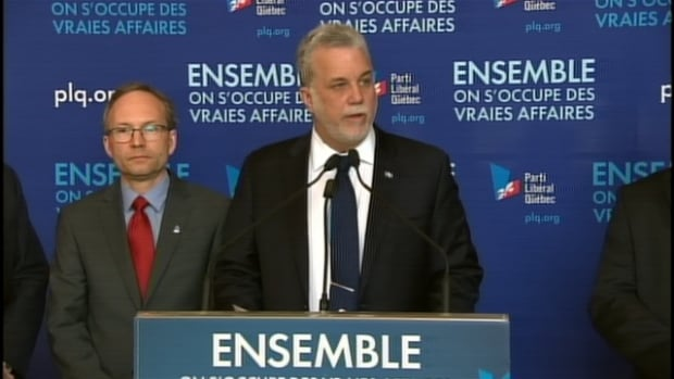 Quebec Liberal Leader Philippe Couillard unveiled his party's economic platform on Tuesday.