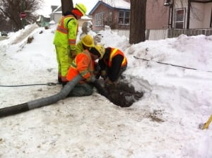 Pritchard Avenue pipe thawing