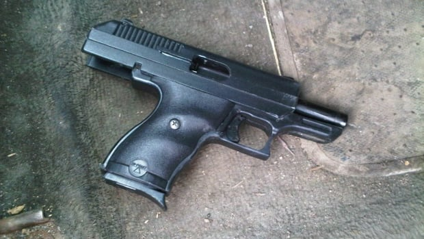 Police released this photo of the 9 mm handgun they say was recovered during a traffic stop last week.