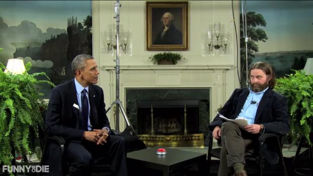 President Barack Obama made an appearance on the online satirical show Between Two Ferns with host Zach Galifianakis last week and plugged healthcare.gov to encourage young people to buy health insurance plans before the March 31 deadline.
