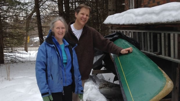 Becky Mason and Reid McLachlan are happy they picked up a new Royalex canoe before the material is discontinued.
