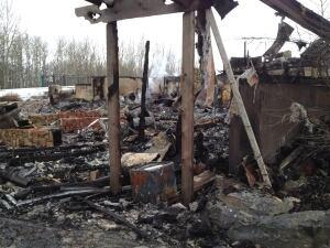 Bearspaw fire damage