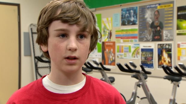 Grade 6 student Vincenzo Salatino is an enthusiastic participant in the SPARK exercise program at his Calgary school.