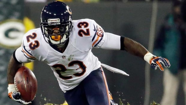 Return specialist Devin Hester also has 217 receptions for 2,807 yards and 14 touchdowns in his career.