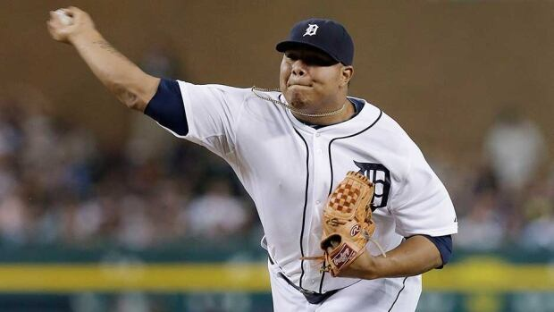 Detroit Tigers relief pitcher Bruce Rondon was 1-2 with a 3.45 ERA as a rookie last year.
