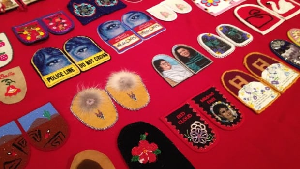 Walking With Our Sisters is a collection of more than 1,800 moccasin tops, deliberately left unfinished to represent the unfinished lives of missing or murdered Indigenous women in Canada. The exhibit opens today in Yellowknife and runs until Jan. 24.