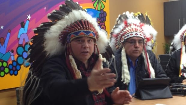 Thunderchild First Nation Chief Delbert Wapass and Onion Lake Cree Nation Chief Wallace Fox say they won't be signing on to funding agreements with the federal government.