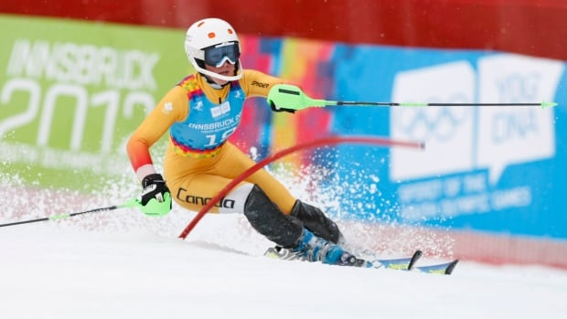 In this Jan. 2012 file photo, Canada's Roni Remme is seen competing at a women's alpine skiing slalom event at the first winter Youth Olympic Games in Innsbruck.