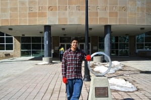 Alex D'Souza with McMaster's iron ring