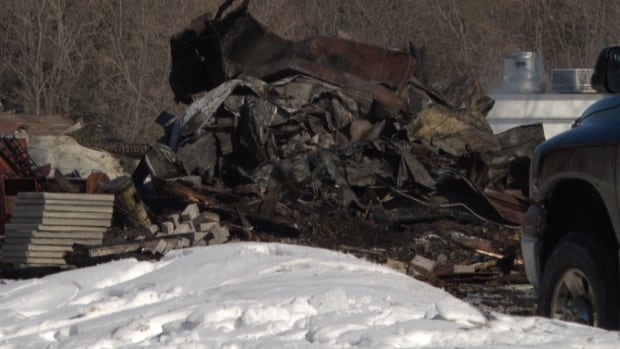 Two barns were destroyed at a farm on 6255 Prince of Wales Dr. in March.