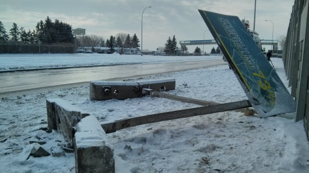 One person died and three others were injured late Saturday night after the driver lost control of the vehicle on Blackfoot Trail and crashed into a sign and a sound barrier.