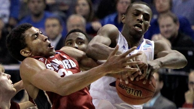 Canadian Andrew Wiggins managed just four points against Stanford on Sunday.