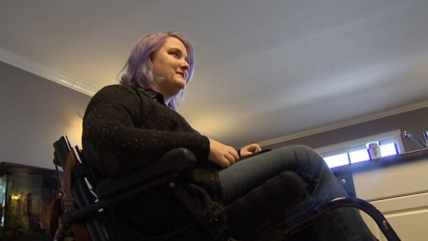 Jennifer Coughlin uses a wheelchair and says she's found it hard to find accessible and affordable housing in Charlottetown.