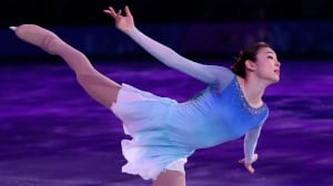 Yuna Kim of South Korea performs during the figure skating exhibition gala at the Iceberg Skating Palace during the 2014 Winter Olympics last month.