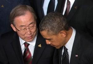 NETHERLANDS-NUCLEARSUMMIT/ Obama Ban Ki-moon