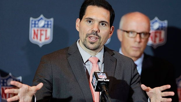 NFL vice president of officiating Dean Blandino will be monitoring the games from league offices in New York next season.