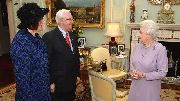 N.L. Lieutenant Governor Frank Fagan, with wife Patricia, met with Queen Elizabeth II at Buckingham Palace in London, England on Tuesday.