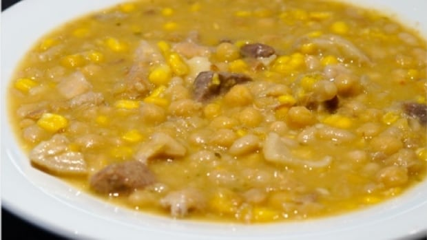 Victor Mazzola shares his recipe for locro, an Argentine stew, on D is for Dinner for CBC Radio's All in a Day.
